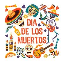 Dia De Los Muertos, Mexican Day Of Dead Greeting Card