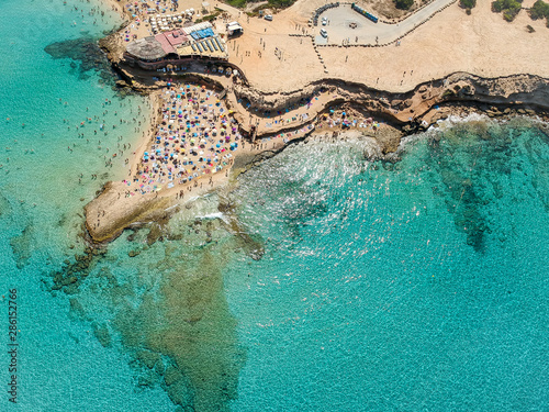 Ibiza beach. Ibiza summer. Cala Conta Beach, Ibiza. Spain.
