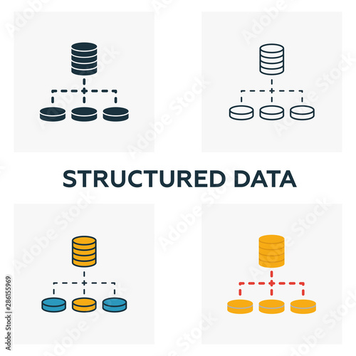 Photo Structured Data icon set