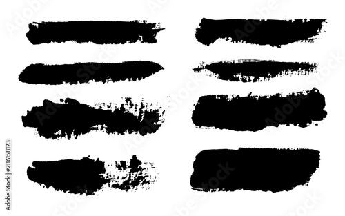 Photo Brush strokes. Vector paintbrush set. Grunge design elements