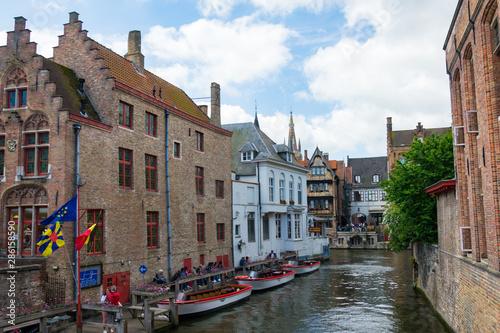 Poster Bridges Bruges, Belgium, Europe