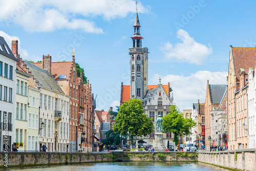 Wall Murals Bridges Bruges, Belgium, Europe