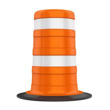 Traffic Barrel Isolated