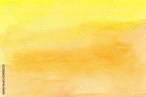 Obraz Yellow orange watercolor background Ombre paint texture - fototapety do salonu