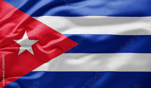 Photo  Waving national flag of Cuba