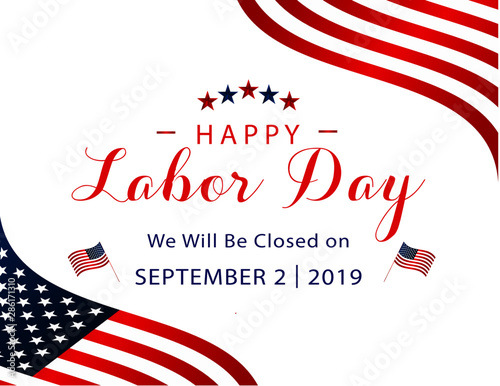 Door stickers Height scale happy labor day september 2nd 2019 we will be closed on sign for business federal holidays