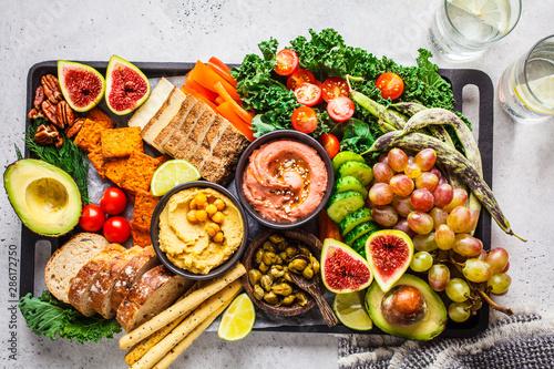 Vegan appetizer platter Canvas Print