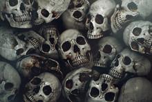 Pile Of Human Skull Background