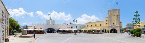 Fotografie, Obraz Town square of Kos, Greece