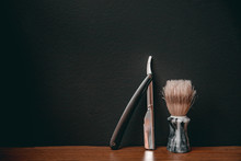 Brush And Razor For Shaving Be...