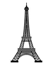 Eiffel Tower. Paris City. Vector Illustration