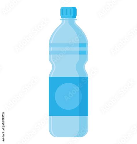 Water bottle flat style. Vector illustration Fototapet