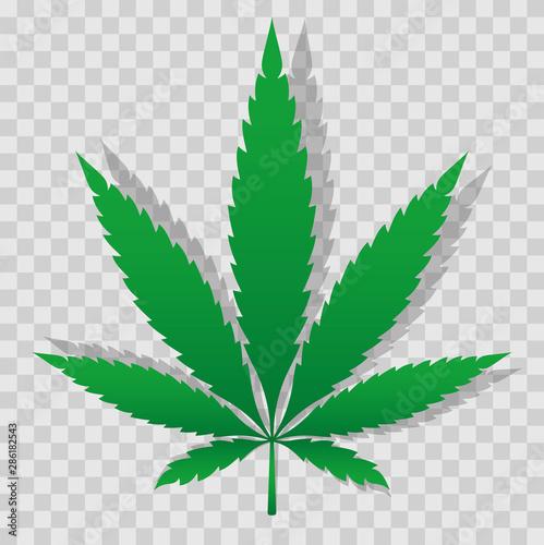Fotografia Marijuana cannabis leaf silhouette. Vector illustration
