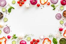 Cook Frame With Fresh Vegetabl...