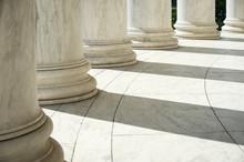 White Marble Neoclassical Colu...