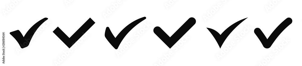 Fototapeta Check mark icons collection. Vector illustration - obraz na płótnie