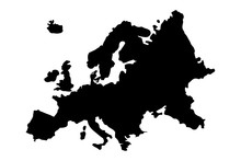 Europe Map Silhouette Vector I...