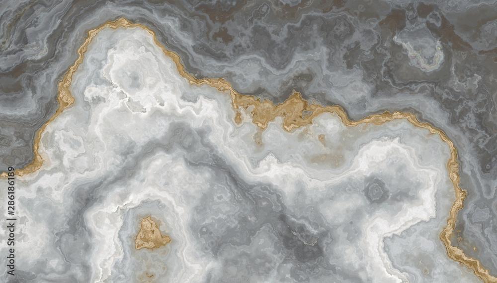 Fototapety, obrazy: Gray-white marble pattern