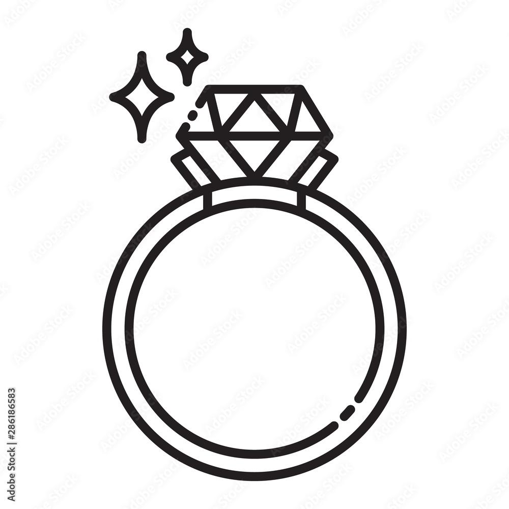 Fototapety, obrazy: Ring diamong
