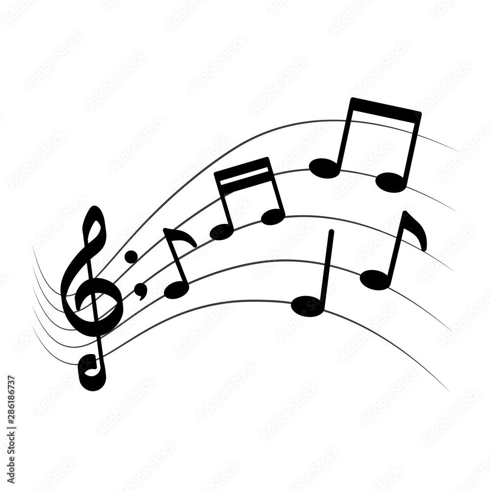 Fototapeta Music notes