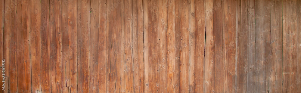 Fototapety, obrazy: Vintage wood background. Rich wood texture of planks. Free space for text.