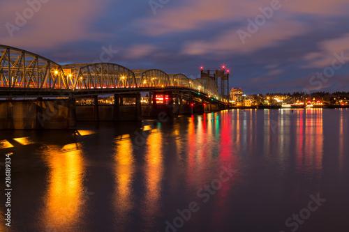 I-5 Bridge to Vancouver, WA at Night