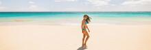 Beach Panoramic Banner Woman R...