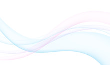 Colored Transparent Waves On White Background