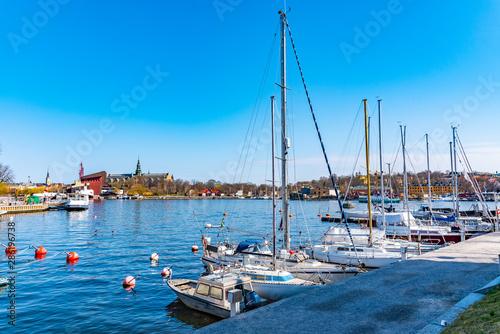 Foto op Aluminium Cyprus View of marina in Stockholm, Sweden