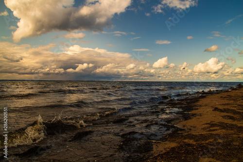 Printed kitchen splashbacks Coast Wolken über dem Meer