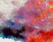 Designed grunge texture for creative ideas. Macro brushstrokes of oil. Abstract close up structure background. Colorful HD wallpaper. Simple graphic design template.
