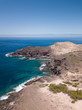 Porto Santo Island: aerial view of coastline with clear turquoise water