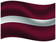 Latvia Beautiful national flag with waving effects. original colors and proportion. Amazing design vector illustration for web,logo, icon and background.from countries flag set.