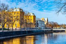 Elite Grand Hotel In Gavle Reflecting On River Gavlean, Sweden