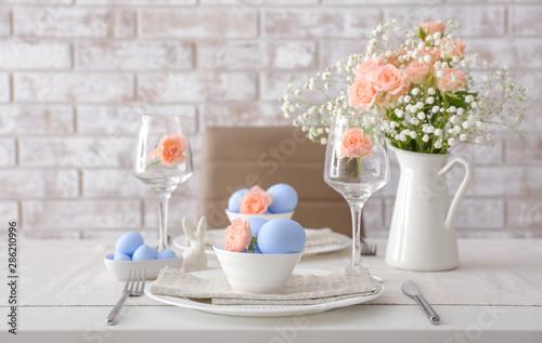 Carta da parati Table set for Easter celebration