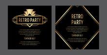 Gatsby Art Deco Party Invitati...