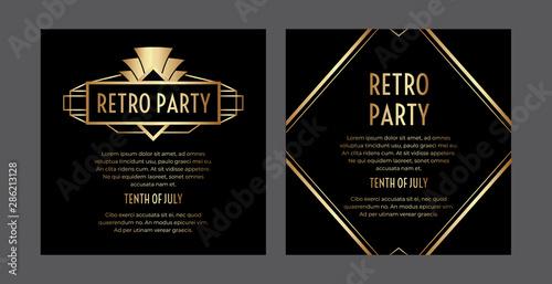 Papel de parede  Gatsby Art Deco Party Invitation Design