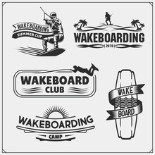 Wakeboarding Silhouettes, Labe...