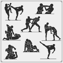 Set Of Fighting Club Emblems, ...