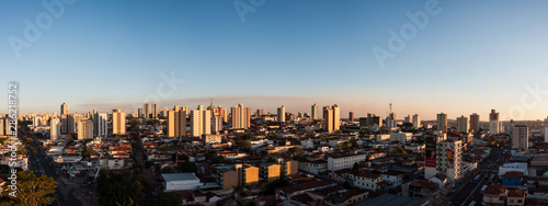 Fototapety, obrazy: Sunset golden hour panorama of Bauru, Brazil