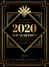 2019 New Year Party Art Deco S...