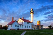 Whitefish Point Lighthouse At Dusk