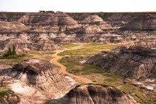Horseshoe Canyon Wide Landscape View.