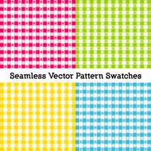 Gingham Seamless Check Pattern...