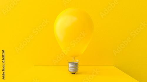 Obraz Yellow balloon shape bulb - fototapety do salonu