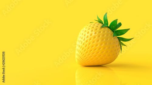Yellow strawberry - 286231138