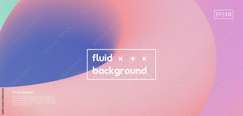 Fototapety, obrazy: Fluid abstract background. Modern vibrant color gradient illustration. Liquid poster futuristic design.