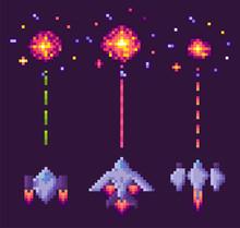 Spaceship Shooting, Explosion ...