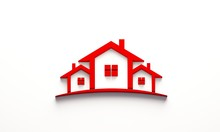 Red Real Estate Houses Logo De...