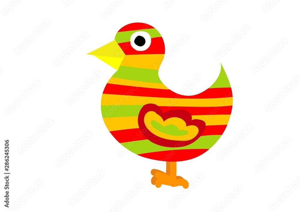 Fototapeta ptak, kolorowy, papuga, ozdoba, dekoracja, reklama, wieś, wiejskie życie, biesiada, dożynki, gospoda